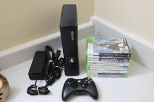 Microsoft Xbox 360 4GB Matte Black System with 10 Games for sale  Ottawa