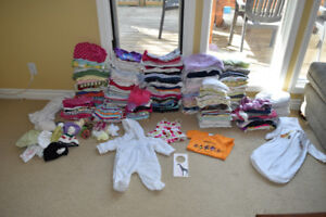 Full set of Girl clothes (Size 0-6 Month)