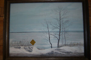 "Great Framed Painting ""Yield"" Signed Tanya Arsenault"