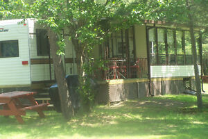 Waterfront furnished house trailer for rent