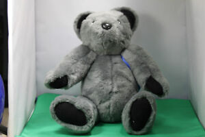 Soft cuddly Grey Teddy Bear fully moveable joints, & backpack
