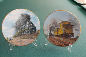 THE AGE OF STEAM PORCELAIN PLATES BY TED XARAS