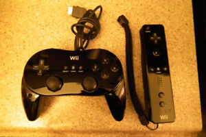 2 Nintendo Wii Black Remote controllers