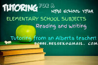 Elementary Trained Teacher Available to Tutor over Summer