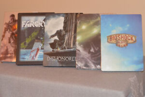10 Steelbooks + 2 watch dogs hats NEW