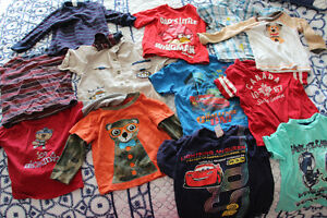 Boys 18-24 Months clothes 5 long-sleeve tops 7 t-shirts 7 pants