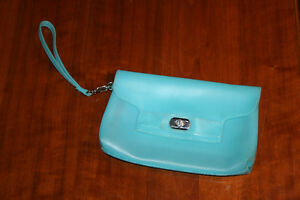 Blue plastic purse from Old Navy