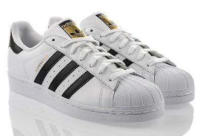 ADIDAS SUPERSTAR Herrenschuhe Weiss Classic Top Expressversand C77124 (Adidas Classic Schuhe Für Männer)