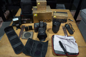REDUCED Nikon D7100 + 3 lens's filters and speed Light