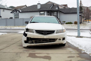 Matte White 2007 Acura TSX 6spd AS IS or For Parts – Salvage