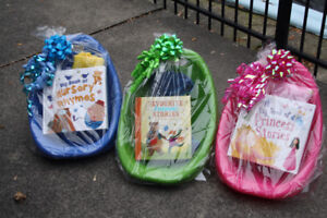 Kids' Gift Set- Scoop reading chair with book and blanket