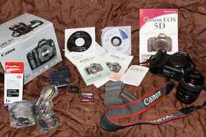 Canon Eos 5D DSLR Full Frame With Canon Lens and Accessories