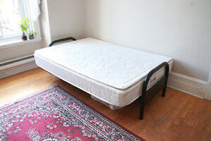 Double bed + frame, couch, desk, dresser