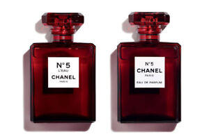 Chanel No 5 RARE LIMITED EDITION HOLIDAY RED BOTTLE!