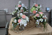 Floral Centerpieces for Wedding or Shower