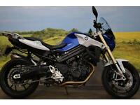 BMW F800R **Braided Hoses, Heated Grips, Brembo Brakes**