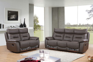 Boxing Sale Air Leather Recliner Sofa Set Start