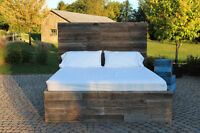 Handcrafted Barn Wood Headboards & Bed Frames   Soulboards.ca