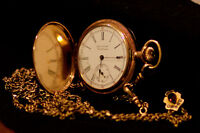 American Waltham Pocket watch with chain