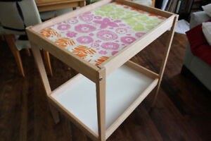 Ikea change table with wipeable change mat