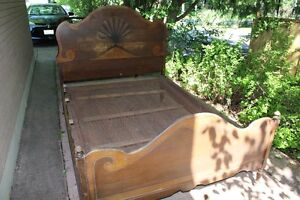 Antique Clam Shell Bed Frame