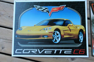 Mustang and Corvette Tin Signs
