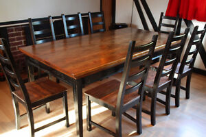 large Harvest TABLE & 8 CHAIRS