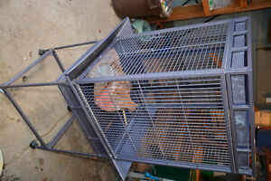 Big Steel Bird Cage and stand