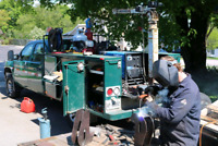 Mobile welder welding and fabrication