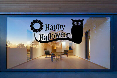 Happy Halloween Vinyl Window Stickers Window Wall Decals Home Decorations Flower (Home Decorations Halloween)