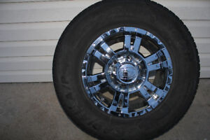 4 - ION 16x7 Chrome Wheels with tires