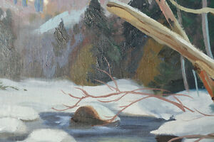 LISTED ARTIST TOM HALL OIL ON BOARD WINTER PAINTING EXCELLENT Gatineau Ottawa / Gatineau Area image 7