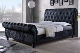 CHESTERFIELD SLEIGH BEDS - FREE DELIVERY - ALL COLOURS