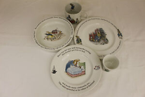 CHILD'S DISH SET - PETER RABBIT BY WEDGWOOD