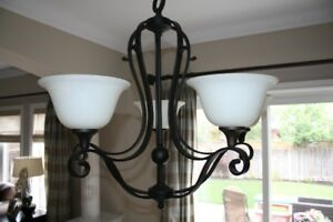Kitchen Chandelier with Island Light - Excellent Condition