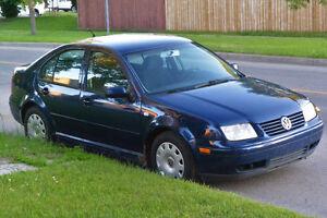 2001 Volkswagen Jetta Sedan Manual Transmition