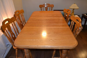 Dining Room Table, Chairs, Hutch and Sideboard