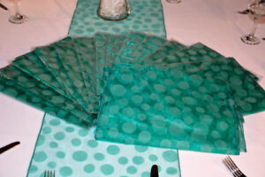 St. Patrick's day Green Dots table runners, party, wedding