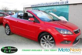 2009 09 FORD FOCUS 2.0 CC2 2D 144 BHP HARDTOP CONVERTIBLE RED PETROL