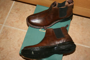 Mens Clark Leather Pull On Boots