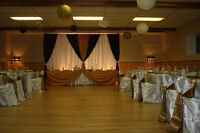 Party decor tables,table cloths,chair,chair cover for rent