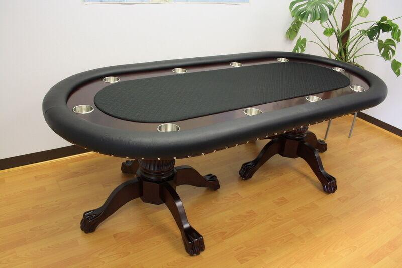 10 Player Luxury MRC Poker Table MONARCH Black Solid Wood Legs