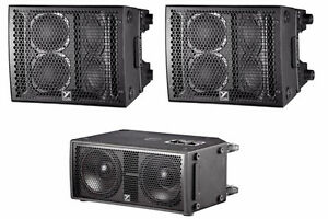 TWO SPEAKERS ONE SUB Yorkville Sound Paraline Series 1200 watts