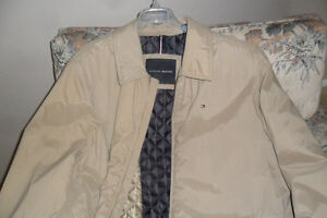 Men's,Tommy Hilfiger Jacket , Quilted Lining, Full Zip, Tan, 3XL