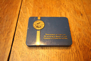 RARE PLAYERS SOUVENIR VISIT NAVY CUT CIGARETTE FACTORY TIN