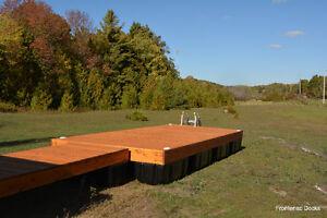 8' x 20' cedar floating dock with a 4' x 16' ramp Kingston Kingston Area image 3