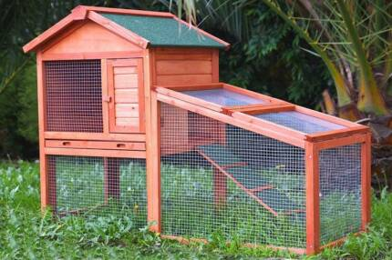 ♥♥ Rabbit /Guinea Pig Hutch + Run Area + FREE 1L Water Bottle  ♥♥ Londonderry Penrith Area Preview