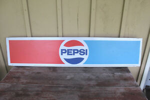Vintage Tin Pepsi Sign