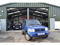 2004 Mitsubishi Shogun Pinin 1.8 Equippe 4X4 PETROL MANUAL BLUE LEATHER !