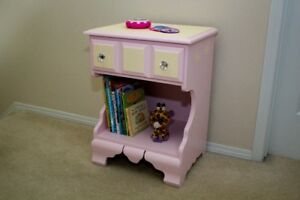 For Sale! Solid Wood Girl's Pink Nightstand.
